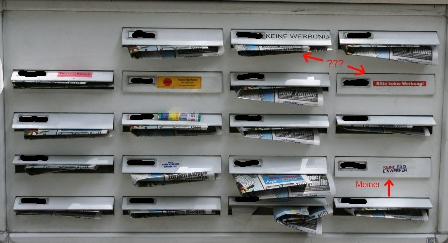 Foto des Briefkastens