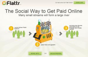Screenshot Webseite Flattr.com