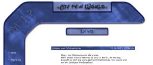 Screenshot einer ersten (ansehnlichen) Versionen von pfaffe.de.vu (Vorläufer von derpfaff)