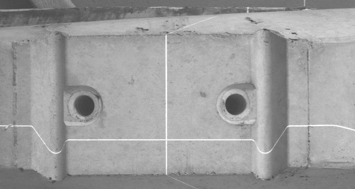 Bildverarbeitung: Vermessung Bahnschwelle