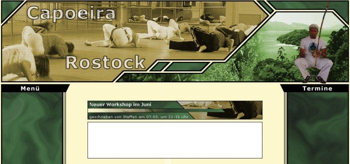 Screenshot der von mir erstellten Vereinsseite